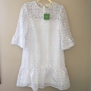 80daff83c860 kate spade Dresses - kate spade new york white flounce lace shift dress